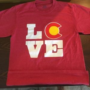 Colorado Love t shirt adult Med red tee EUC